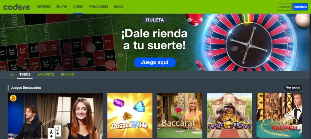 Diviértete en Codere Casino México