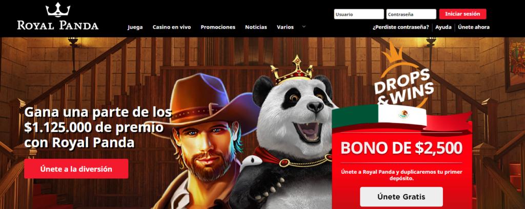Registrate en Royal Panda Casino y consigue increíbles premios
